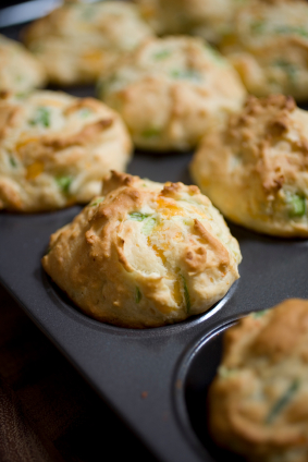 Muffins cheddar et jambon