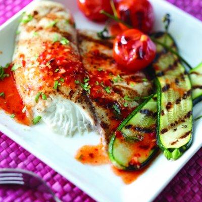 Vinaigrette de tomates et d'ail grillés