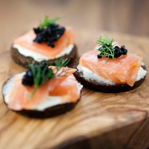 canap s de saumon fum ch telaine