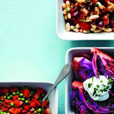 Salade végétarienne de légumineuses