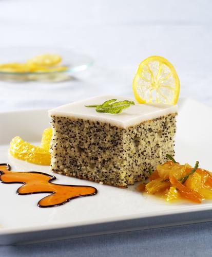 gâteau original au citron et aux graines de pavot - châtelaine