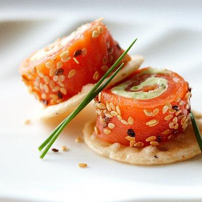 Pannequets de saumon fumé au crabe des neiges