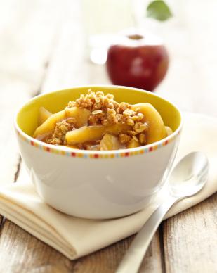 Croustade aux pommes, aux noix et à l'érable