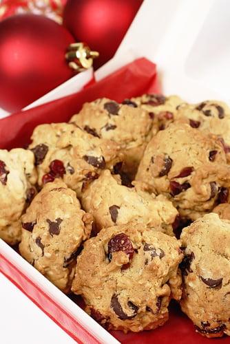 Biscuits aux canneberges et au chocolat