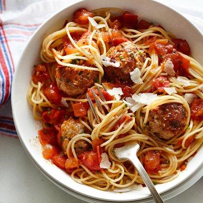 Spaghetti express aux boulettes de viande