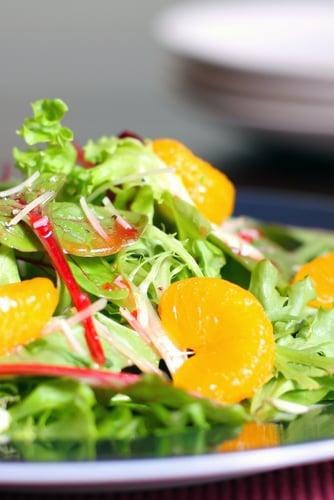 Salade Boston et clémentines, vinaigrette à l'érable