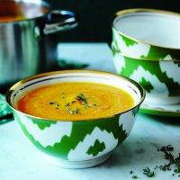 Potage aux carottes parfumé à l'érable