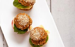 Miniburgers au porc et aux crevettes