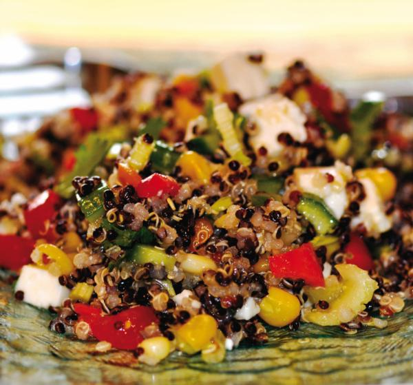 Salade de quinoa et de l gumes ch telaine - Comment cuisiner le quinoa recettes ...