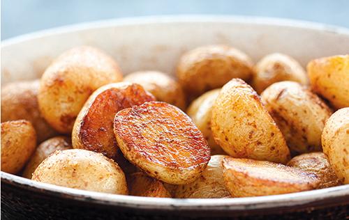 Petites pommes de terre rôties