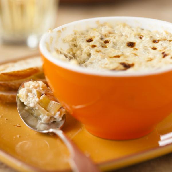 Trempette tiède à l'artichaut et au parmesan