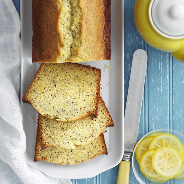 Cake au citron, au miel et aux graines de pavot