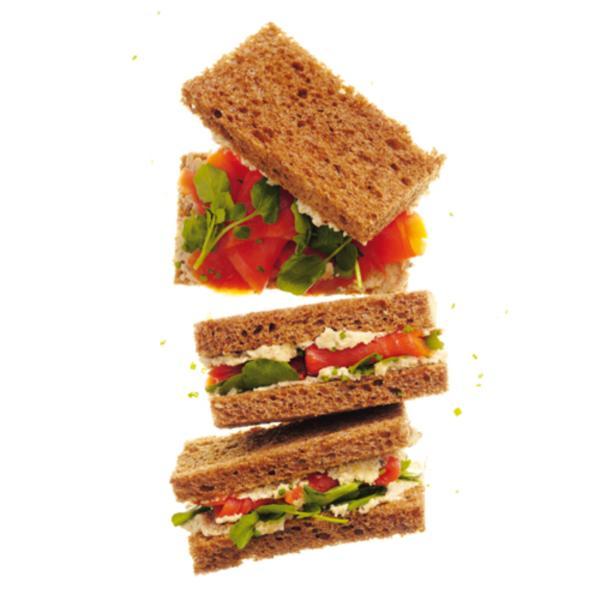 Sandwichs au saumon fumé et à l'artichaut