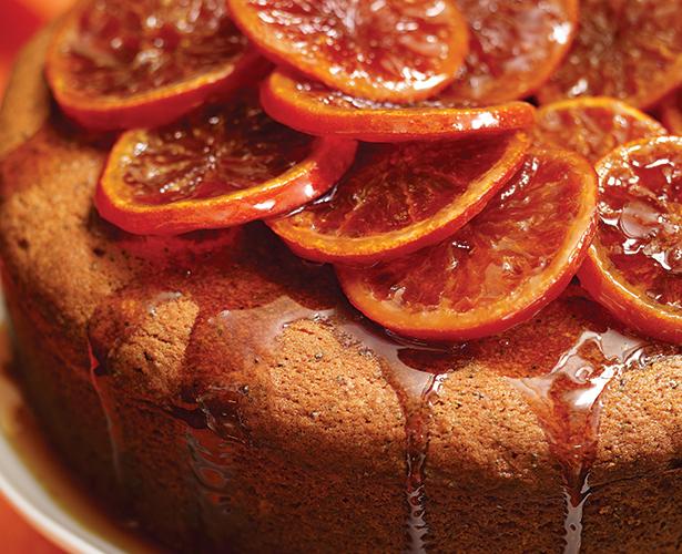 Gâteau à l'orange et clémentines confites