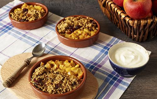 Croustillants aux pommes et aux canneberges