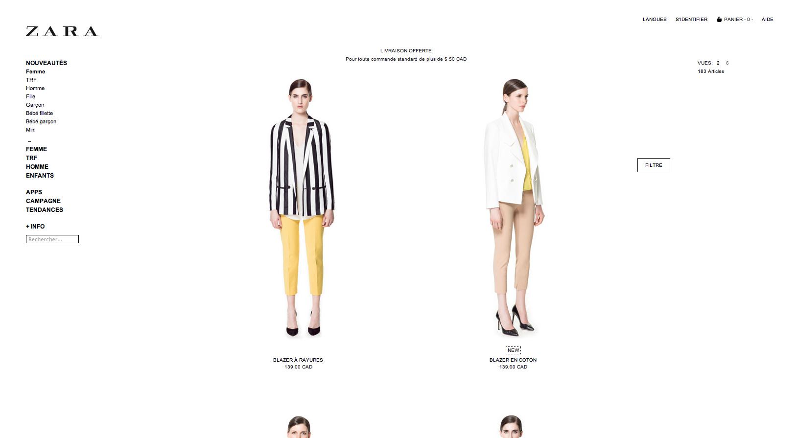 La boutique zara en ligne ch telaine - Zara maison en ligne ...