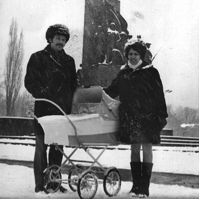 On ne la voit pas, mais elle est dans le landau, en Ukraine, où elle est née. Photo: Collection personnelle