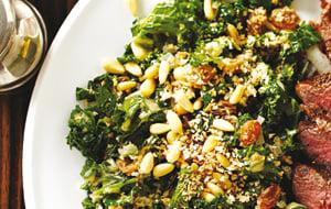 Salade tiède de chou frisé