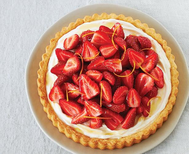 Tarte mascarpone et fraises