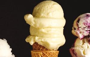 Crème glacée au lait de coco