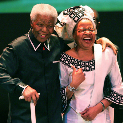 Former South Africa President Mandela and wife Machel celebrate Mandela's 87th bithday in Johannesburg