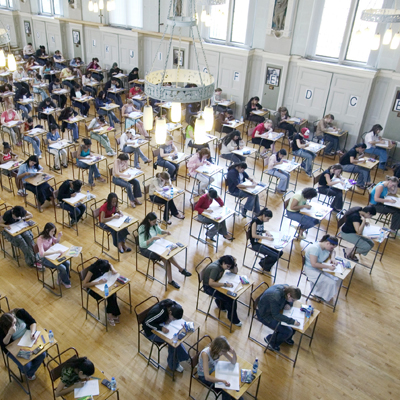 Students Taking Biology Test