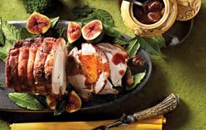 Rôti de porc, sauce aux marrons et marsala