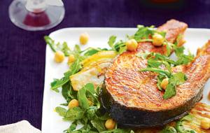Darnes de saumon au fenouil