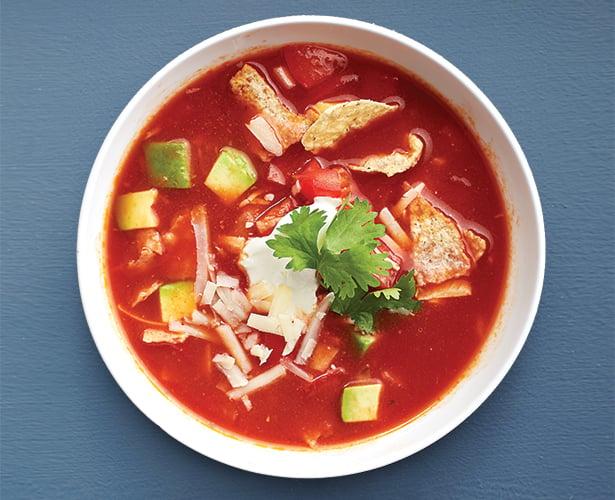 Soupe aux tomates à la mexicaine