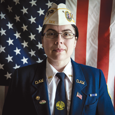 Ruth Moore in her Disabled American Veterans' uniform.