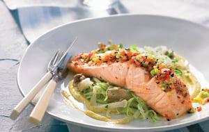 Saumon sauvage à la sauce béarnaise végétale