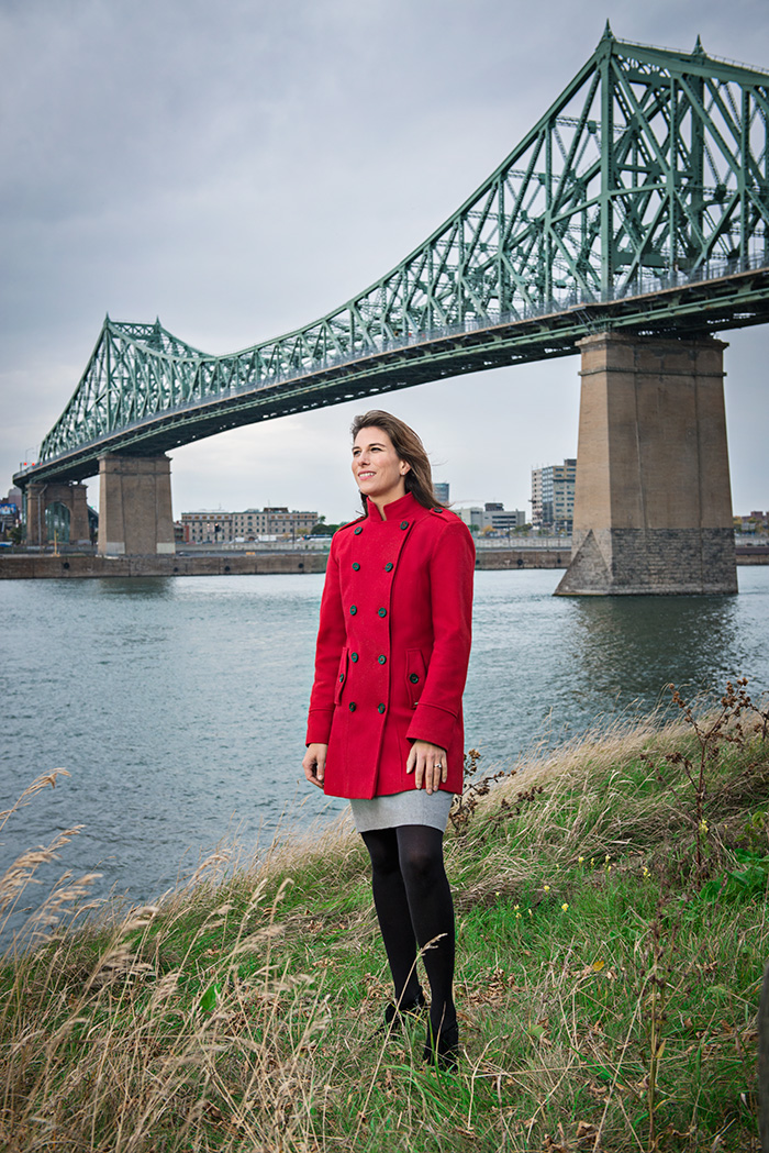 Catherine Tremblay •42 ans •En couple, un enfant •Diplômée en génie civil en 1997 •Directrice principale de projets, Construction et Opérations à la société Les Ponts Jacques-Cartier et Champlain incorporée