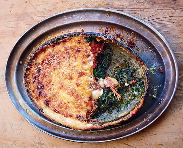 Lasagne au canard croustillant