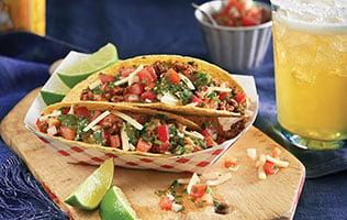 Tacos au bœuf haché