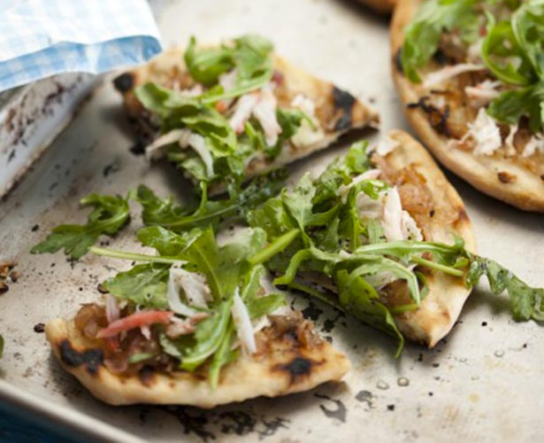Minipizzas au crabe des neiges et à la roquette de Ricardo