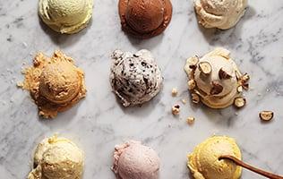 Boules de crème glacée