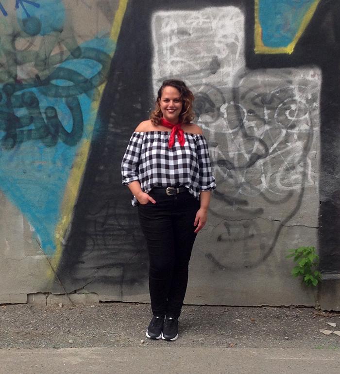 Joanie Pietracupa porte la tendance vichy