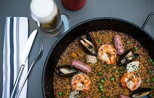 Paella du chef Carles Abellan du restaurant Tapas 24