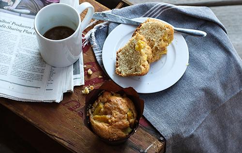 Muffins parfumés à l'ananas et à la lime