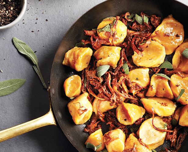 Gnocchis de patates douces aux chanterelles