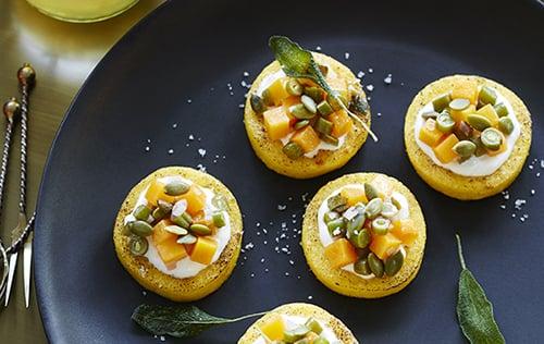 Légumes confits sur polenta
