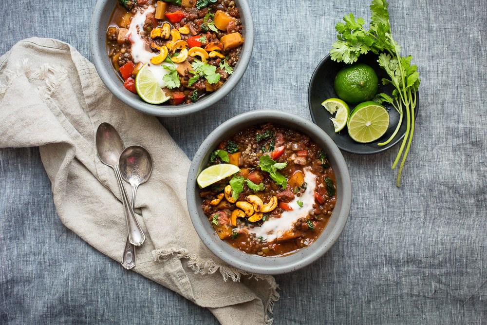 chili courge musquée lentilles.noires kale the green life article