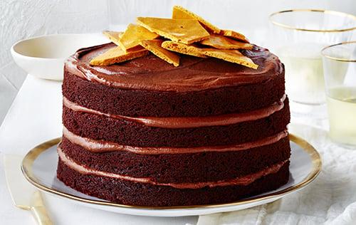 Gâteau au chocolat, glaçage moka