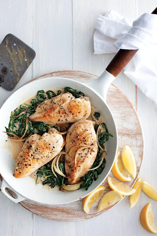 recettes semaine poitrine poulet florentine article