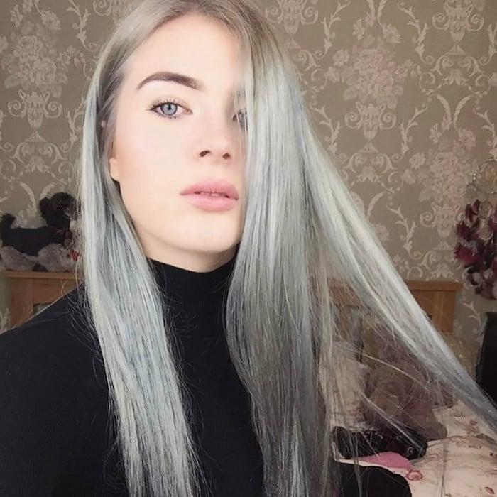 Couleur cheveux blanc perle