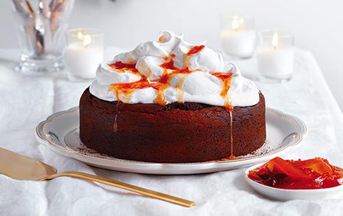 Gâteau au chocolat et son nuage de meringue