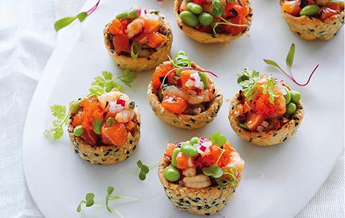Minipokés saumon et crevettes nordiques