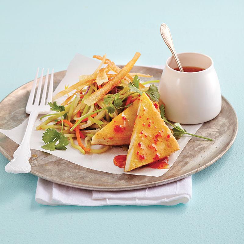 Tofu au chili sucré et salade de brocoli