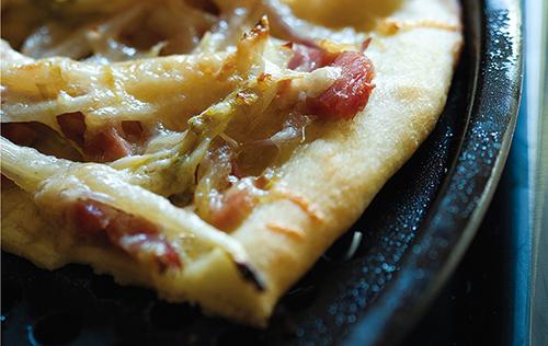 Pizza aux endives et au jambon
