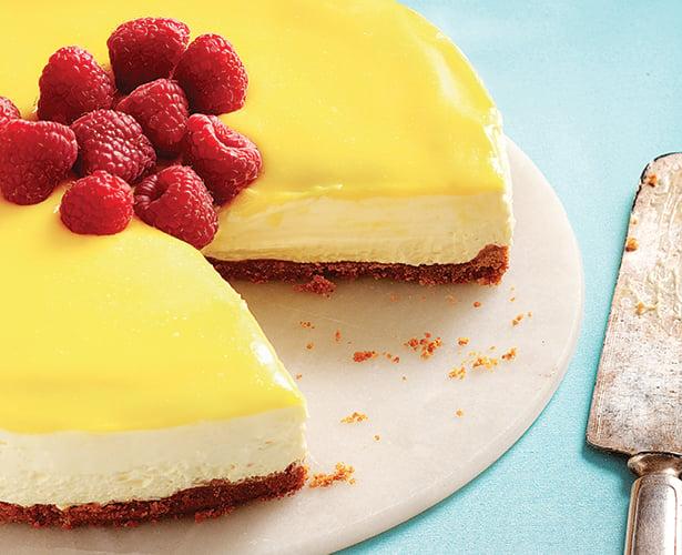 Gâteau sans cuisson au mascarpone et au citron